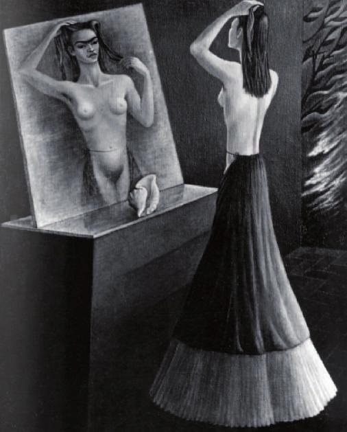 Frida frente al espejo. 1946